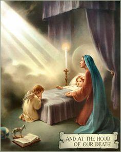 Rosary card-hail mary 8