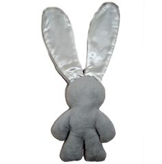 BEBE RUTH Lily n Jack Snuggle Bunny - Grey and White