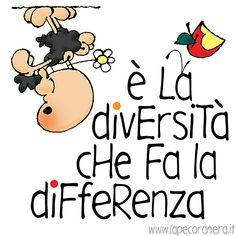 è la diversità che fa la differenza Bellisima, Self, Humor, Words, Funny, Quotes, Scorpion, Diversity, Fictional Characters