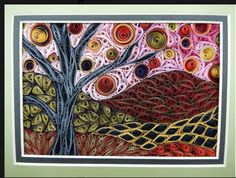 "Quilled ""Fall"" - by: Janet Watling-Little Circles Quill-Along Group FB"