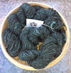 Handspun Alpaca Blend Knitting Yarn - Midnight Blue £7.00