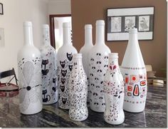 garrafa pintada mariangelasouza-blogspot 2                                                                                                                                                     Mais