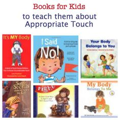 "Books for kids about appropriate touch, safety, and sexual abuse from Pragmatic Mom. Along with reading about personal safety and talking with your children, use the Conscious Discipline tool of teaching them their ""Big Voice"" as featured in Dr. Bailey's book, Shubert's Big Voice. Statistics have shown that children who speak up are less vulnerable to many kinds of maltreatment. #iheartcd"