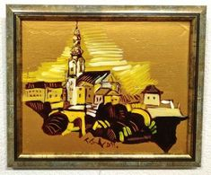 Variácie na Nitriansky hrad I., II., III., IV. (miniatúry) 28 x 22 cm a 34 x 28 cm, www.turzak-art.sk, #nitra #nitrianskyhrad #obrazynitry #turzakart, akryl a zlatý pigment Painting, Art, Craft Art, Paintings, Kunst, Gcse Art, Draw, Drawings, Art Education Resources