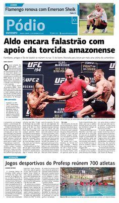 Pódio - 12 de dezembro de 2015 - Aldo encara falastrão com apoio da torcida amazonense - http://www.emtempo.com.br/podio-12-de-dezembro-de-2015-aldo-encara-falastrao-com-apoio-da-torcida-amazonense/  #CapaDoDia, #Noticias, #Pódio