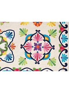 A gorgeous array of applique!   This breathtaking quilt pattern was inspired by painted Mexican Talavera plates and made into a Southwestern version of the classic Baltimore Album Quilt. There are 9 different applique blocks that make up the quilt, a...
