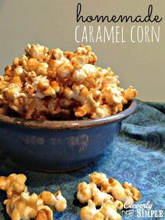 The BEST Homemade Caramel Corn Recipe! Seriously, addictive and so good!