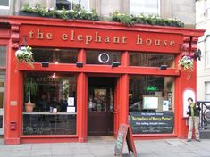 The Elephant House in Edinburgh Scotland is the birthplace of Harry Potter.