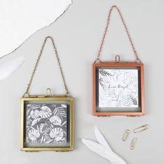 Hanging Brass Photo Frames