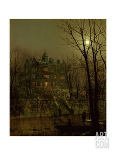 Knostrop Old Hall, Leeds, 1883 Giclee Print by John Atkinson Grimshaw at Art.com