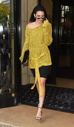 Lady who lunches! Kendall Jenner, 21, swapped the catwalk for the streets of Paris as she exhibited her signature style leaving L'avenue restaurant on Monday