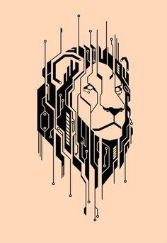 Lion Tattoo by on DeviantArt - Tag für Solomon? -Circuitry Lion Tattoo by on DeviantArt - Tag für Solomon? Leo Tattoos, Kunst Tattoos, Body Art Tattoos, Sleeve Tattoos, Tattoos Skull, Lion Tattoo Design, Lion Design, Tattoo Designs, Tattoo Ideas