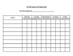 Daycare Sign In Out Sheet Easy Way To Keep Track Of Attendance