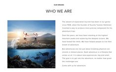 Brand story who we are Brand Story, Aquaman, Coachella, Carrie, Marathon, Over The Years, Inventions, Adventure Travel, Train