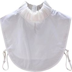 White Ruffle Fake Collar