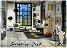 Sims 4 CC's - The Best: Awesims Secretary Desk Set by Daer0n