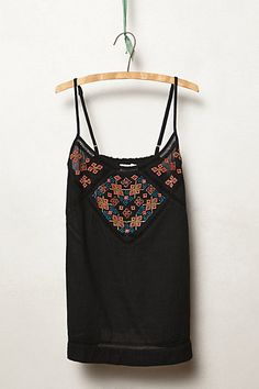 Cosmism Embroidered Tank #anthropologie