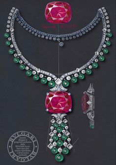 Bulgari Jewelry, Emerald Jewelry, Diamond Jewelry, Jewelry Crafts, Jewelry Art, Antique Jewelry, Beaded Jewelry, Jewelry Show, High Jewelry