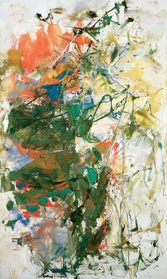 """""""Untitled"""" (1960) by Joan Mitchell - Oil on canvas, 63.8 x 38.1 inches. Private collection. © Estate of Joan Mitchell."""