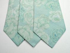 Mint Cotton Mens Neckties $28 etsy