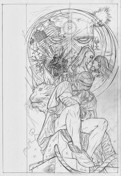 Before Watchmen: Ozymandias, Vol. 1 # 6 - Pencils of Variant Cover by Ryan Sook.