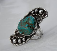 Vintage Ring Green Blue Turquoise Sterling by TheJewelryChain, $46.00 #vintage #jewelry #Fashion