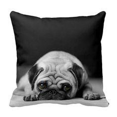 dog breed pillow Pug Silhouette Pillow Dog Pillow Gray Chevron Pillow Chevron Teal Pug Pillow Pug Decor