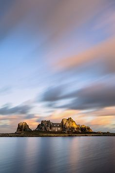 Little house between rocks, Plougrescant, Brittany, France Alone On An Island, Travel Around The World, Around The Worlds, Vacation List, Brittany France, House On The Rock, Crashing Waves, Hiding Places, Little Rock