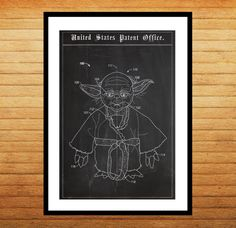 Star Wars Yoda Patent, Yoda Poster, Yoda Print, Yoda Art, Yoda Decor, Yoda Wall Art, Yoda Blueprint by STANLEYprintHOUSE  1.00 USD  We use only top quality archival inks and heavyweight matte fine art papers and high end printers to produce a stunning quality print that's made to last.  Any of these posters will make a great affordable gift, or tie any room together.  Please choose between different sizes and col ..  https://www.etsy.com/ca/listing/244053971/star-wars-yoda-patent-y..