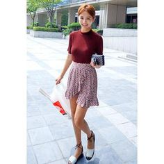 Buy 'IMvely – Floral Print Wrap Skirt' with Free International Shipping at YesStyle.com. Browse and shop for thousands of Asian fashion items from South Korea and more!