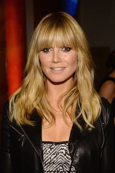 Blunt bangs framed Heidi Klum's face perfectly and smoky makeup brought out her eyes at Howard Stern's Birthday Bash.
