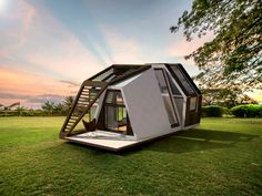 The ready-made Mobile Home is built on a moving platform and can be transported virtually anywhere, making off-grid living that much easier.