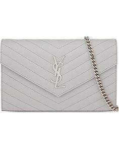 Saint Laurent   White Monogram Leather Cross-body Bag   Lyst Saint Laurent  Handbags, 872889802d
