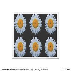 Daisy Napkins - customizable Colors