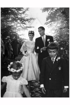 Audrey Hepburn and Mel Ferrer, 1954 | © Pleasurephoto