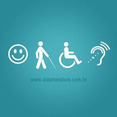 Foto de símbolos da acessibilidade