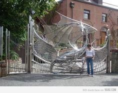Wow!  Incredible custom dragon gate.  http://d24w6bsrhbeh9d.cloudfront.net/photo/1867256_700b.jpg