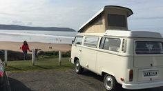 Westfalia Camper van at Woolacombe Devon Devon Holidays, North Devon, Vw Camper, Recreational Vehicles, Car, Automobile, Camper, Autos, Cars
