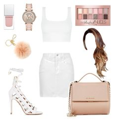 """""""Unbenannt #313"""" by lailabalic on Polyvore featuring Mode, Topshop, Aquazzura, Givenchy, Maybelline und Michael Kors"""