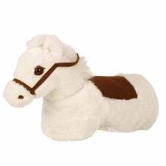 """Das Animal-Riding """"Baby Horse"""" ist ein neues Reit-Spielzeug für Babys ab 6 Monaten. Ein streichelweiches Plüschfell mit niedlichem Pferdekopf, Zaumzeug und echten Pferdegeräuschen."""