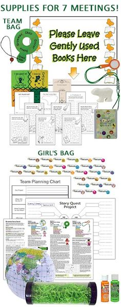 Story Quest Badge in a Bag....complete kit for your troop to earn journey