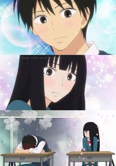 Kimi ni Todoke. Aw how cute he's embarrassed<3