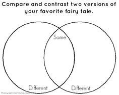 Fairy Tales: Comparing and Contrasting