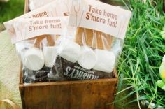 S'mores Take Home Wedding Favors
