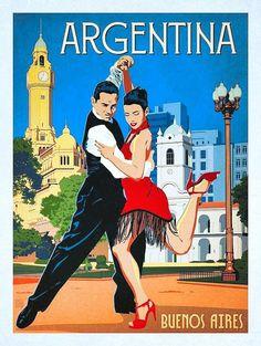 Buenos Aires_Anderson Design Group – World Travel – Argentina Photo Vintage, Vintage Ads, Vintage Medical, Art Deco Posters, Poster Prints, Art Du Monde, Tourism Poster, Argentina Travel, Vintage Travel Posters