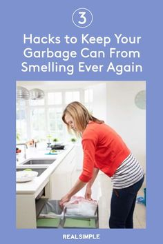 3 Hacks to Keep Your Garbage Can From Smelling Ever Again | Learn how to keep your trash can from smelling and keep the smell away with these three different methods. Plus, you probably already have the supplies needed at home already. #organizationtips #realsimple #howtoclean #cleaningtips #cleaninghacks