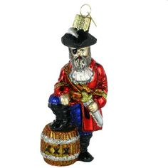 Old World Christmas Pirate Captain Ornament ** Want to know more, click on the image.