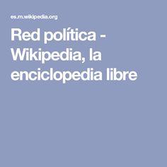 Red política - Wikipedia, la enciclopedia libre
