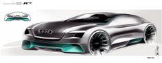 Audi R7 by Chris Yu-Jen Tsai, via Behance