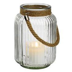Lantaarn BRUDEAND Ø18cm glas/touw